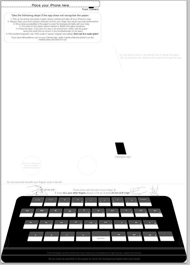 紙に印刷したキーボードとiPhone ... : pdf 印刷 iphone : 印刷