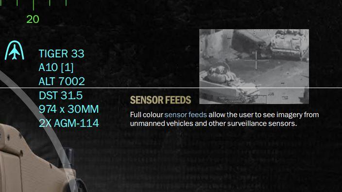 暗視装置など、各種センサーからの画像も表示可能