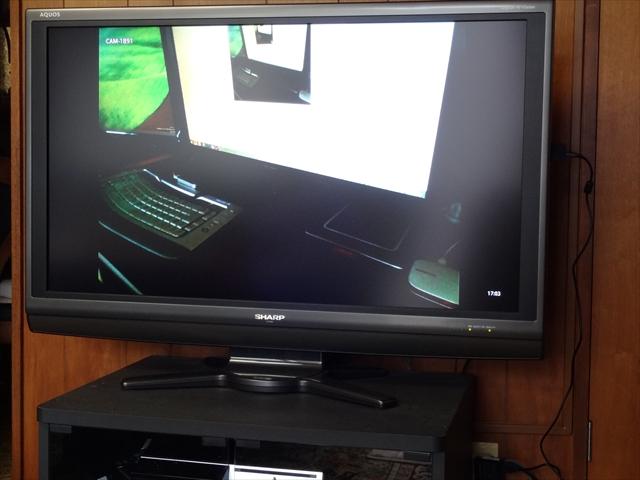 リビングのテレビがネットワークカメラのモニターに!パソコンなんていらんかったんや!