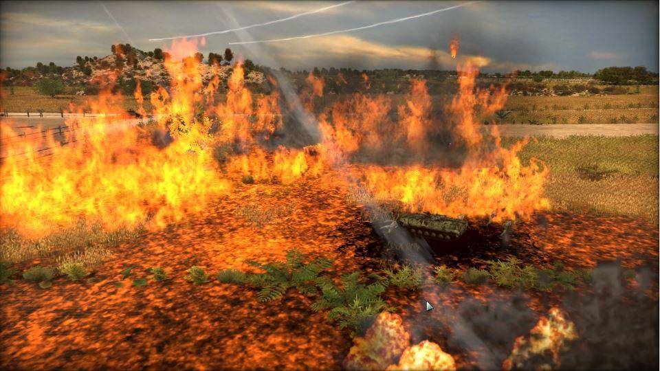 燃え盛るナパーム