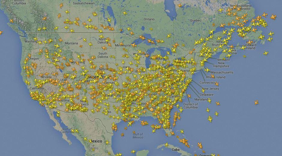 ちなみにアメリカの空はこんな