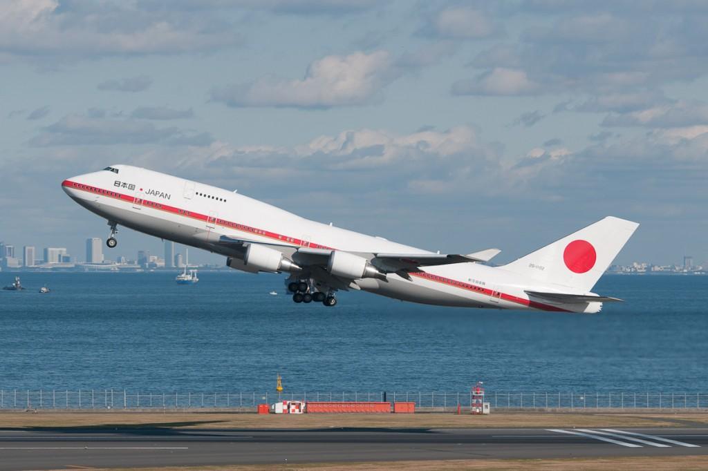 コールサインは「Japanese Air Force 001」