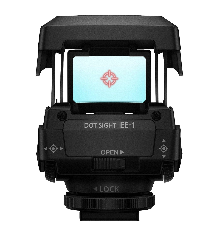スライドスイッチでオープン!レティクルの位置や光度もダイヤルで設定可能!